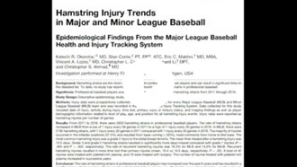 Hamstring Injury Trends in Major and Minor League Baseball